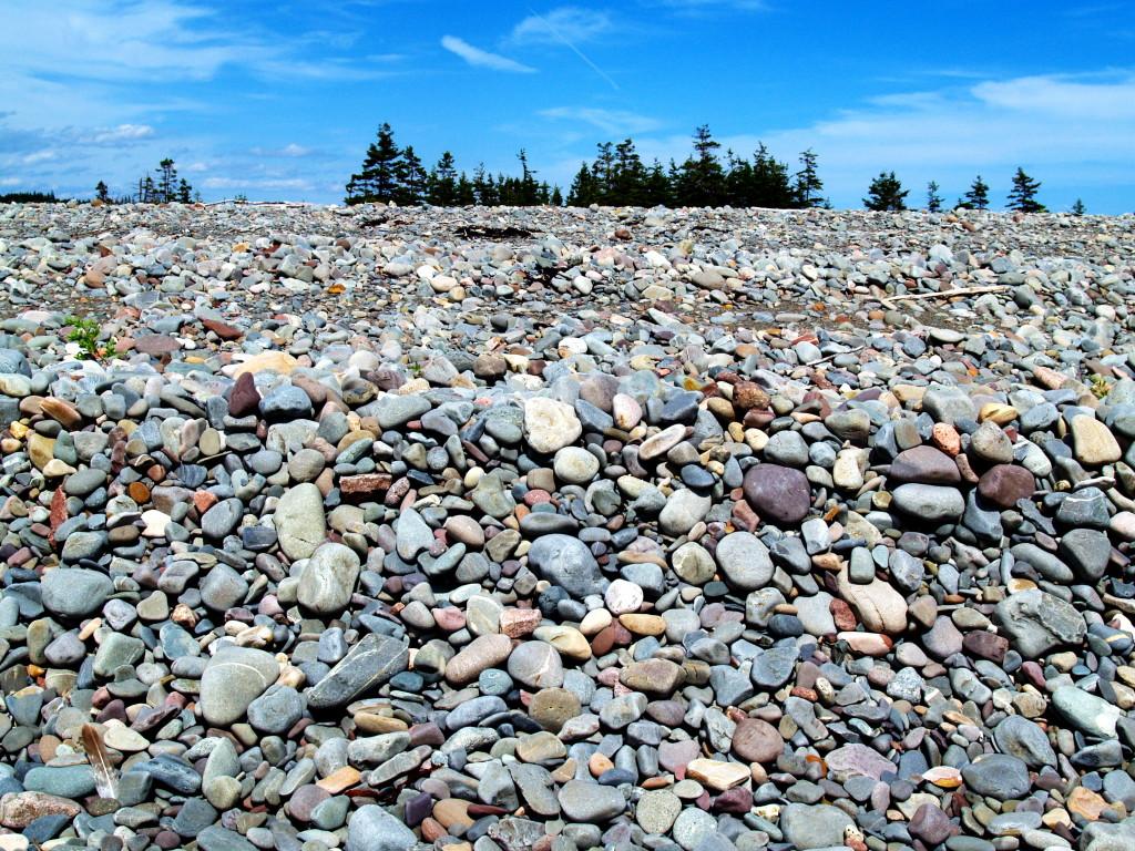 Weathered rocks on beach at Kejimkujik Seaside, Kejimkujik