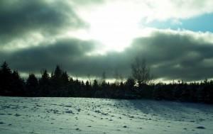 A December winter sky in eastern Canada