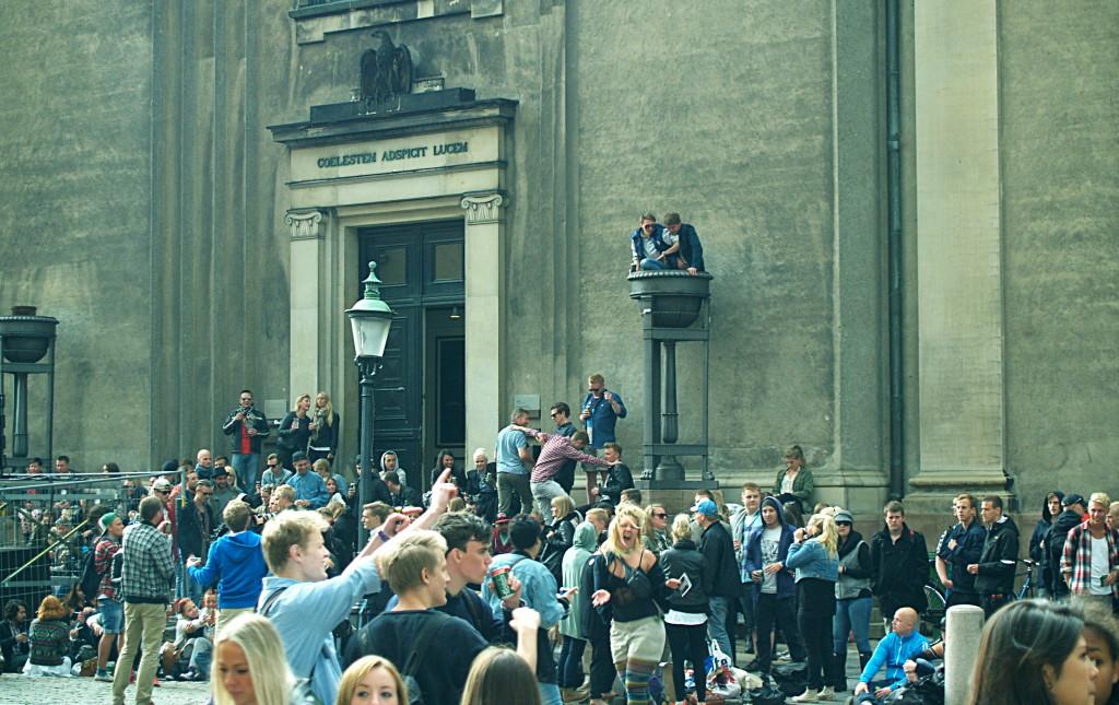 Beer festival-goers in Copenhagen