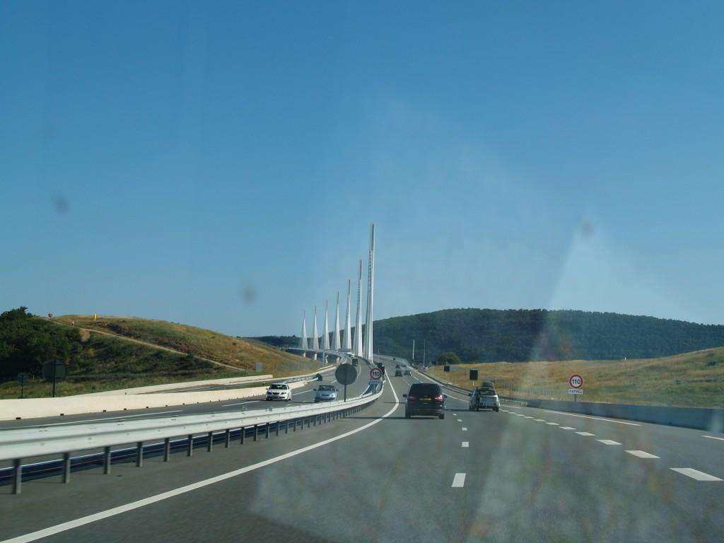 World's tallest suspension bridge: Viaduc de Millau Bridge in southern France
