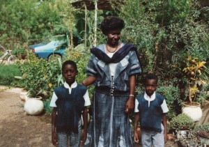 Following threats, Mariam Sankara together with sons Philippe and August left Ouagadougou in 1988, first for Gabon and then later moving to France (Credit: Joan Baxter)