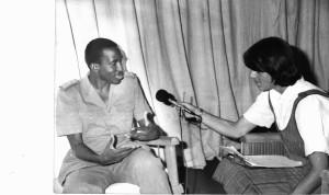 Author interviewing Thomas Sankara for BBC, April 1987