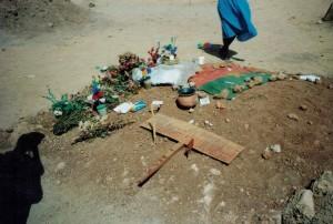 Thomas Sankara's initial burial site in October 1987 (credit: Joan Baxter)