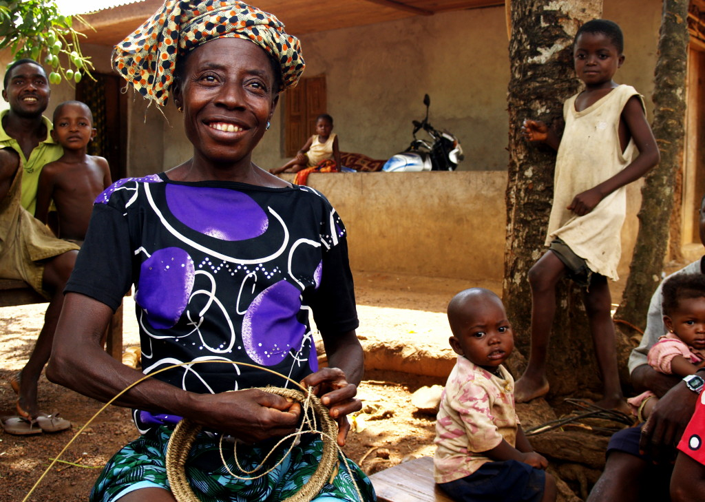 Jebbeh Swaray, Giewumba Village, basket-maker