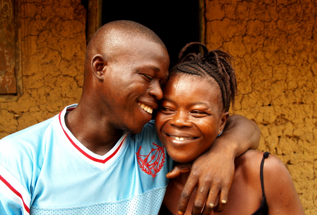 In Sandeyah, Philip and Aminata Amadu enjoy being back home after many years in exile after the war in Freetown