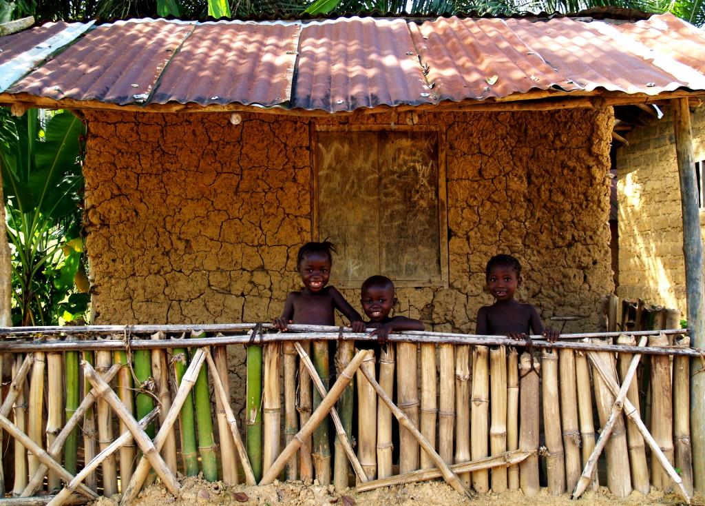 Greetings from children in Jagbwema, near Koidu in Kono District