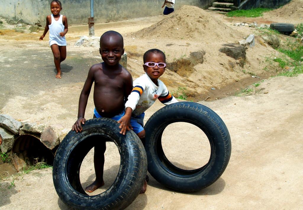 Children at play in Makeni