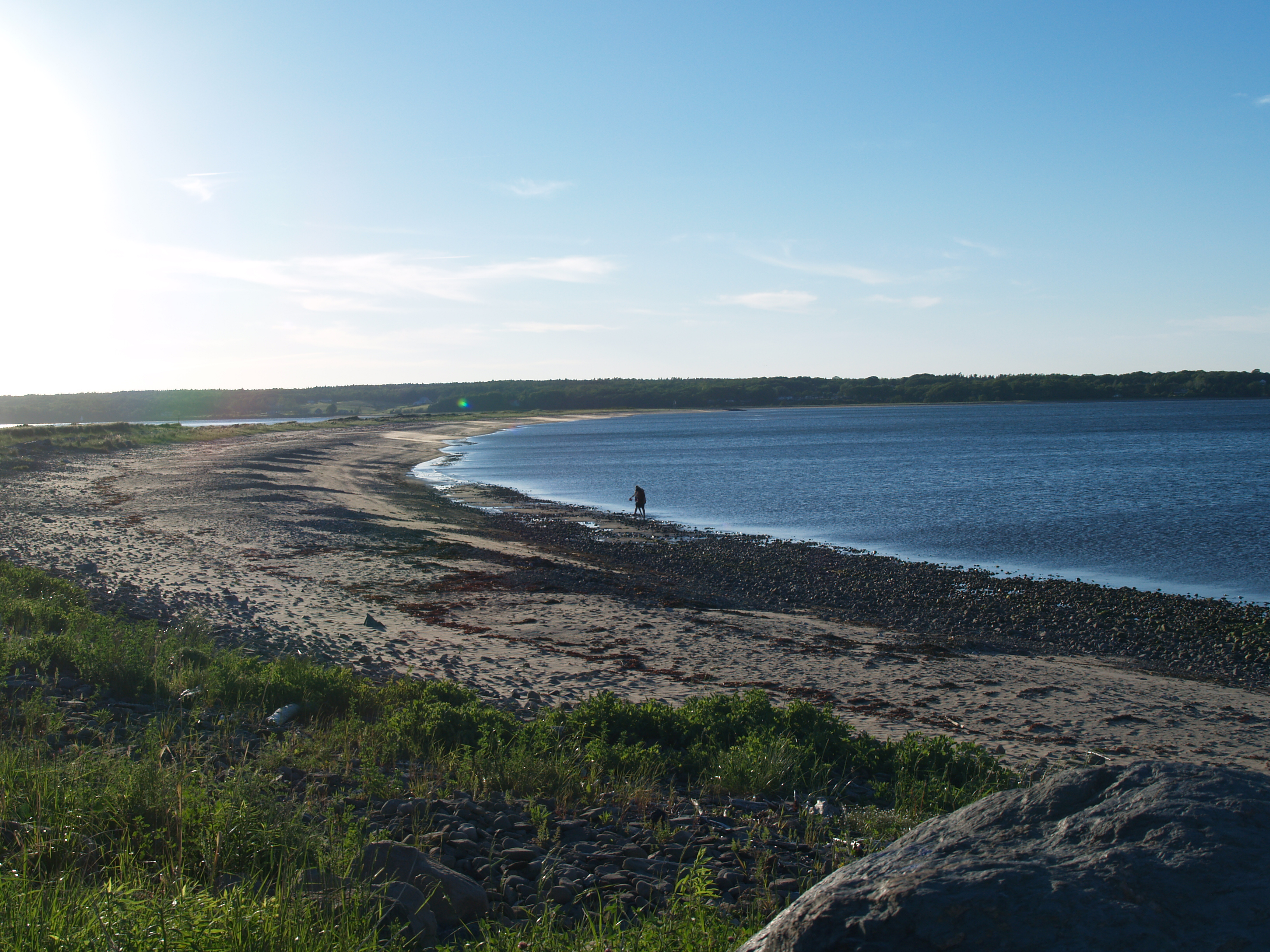 Once a very popular recreational area, after the pulp mill effluent began flowing Lighthouse Beach at Pictou Landing became paradise lost. Photo by Joan Baxter