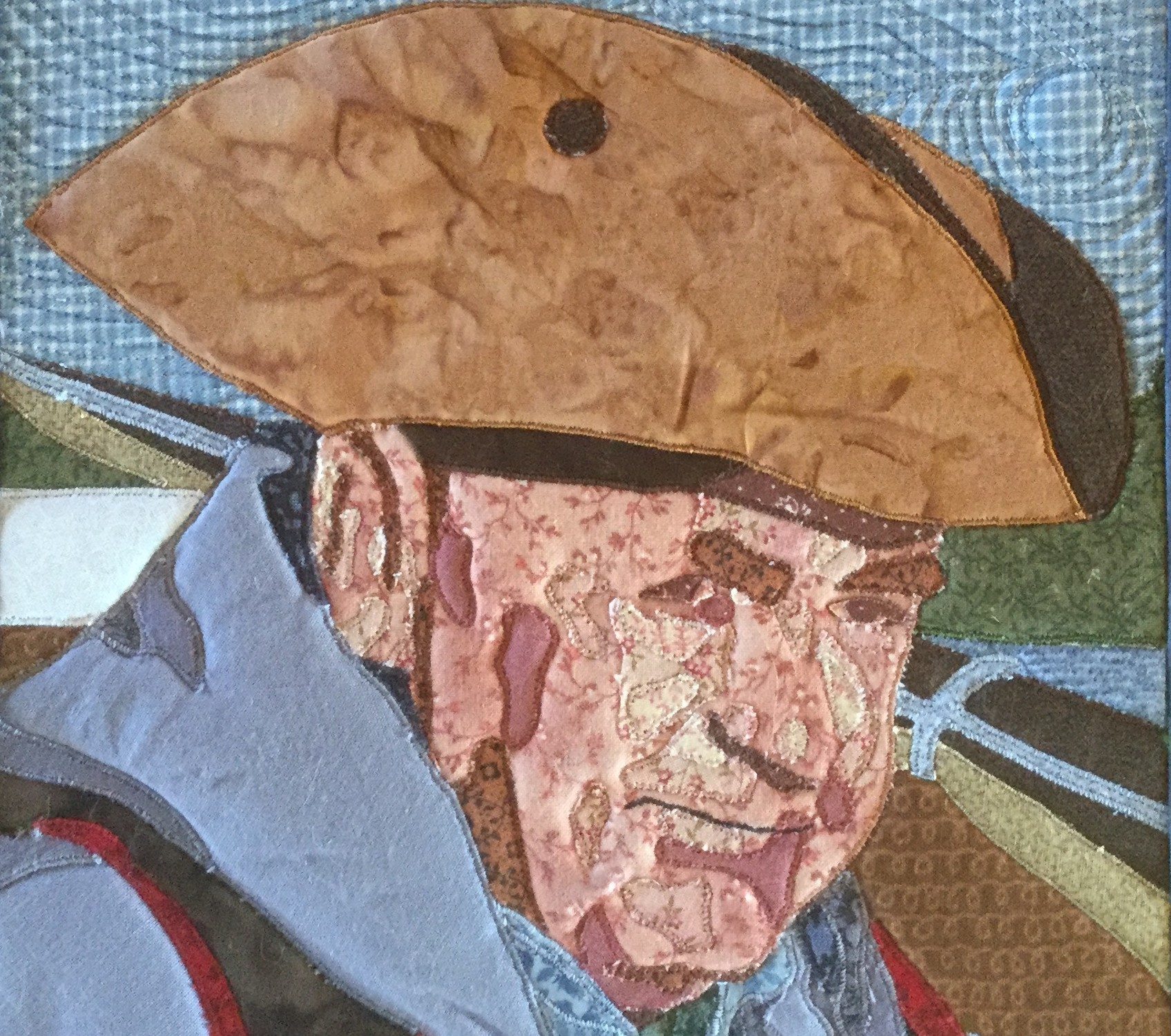 The late Pictou County artist, Susan Tilsley Manley, who died of cancer in 2016, created this marvelous quilt to profile her friend, Alexander MacKenzie.
